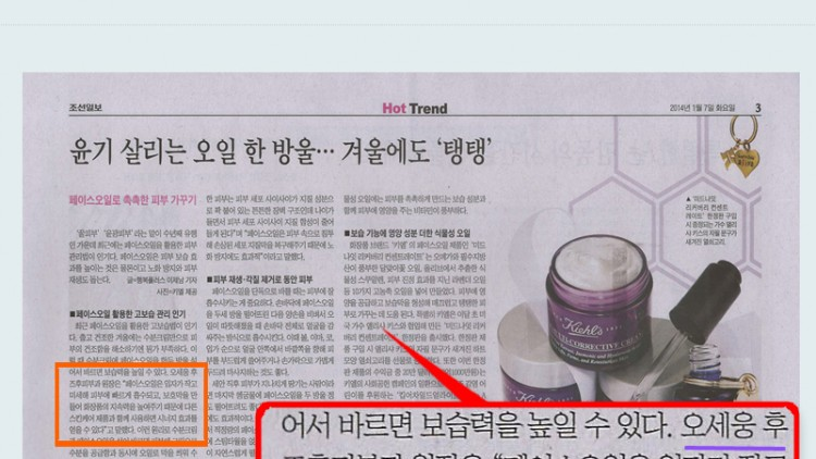 Dr. Oh in Chosun Daily